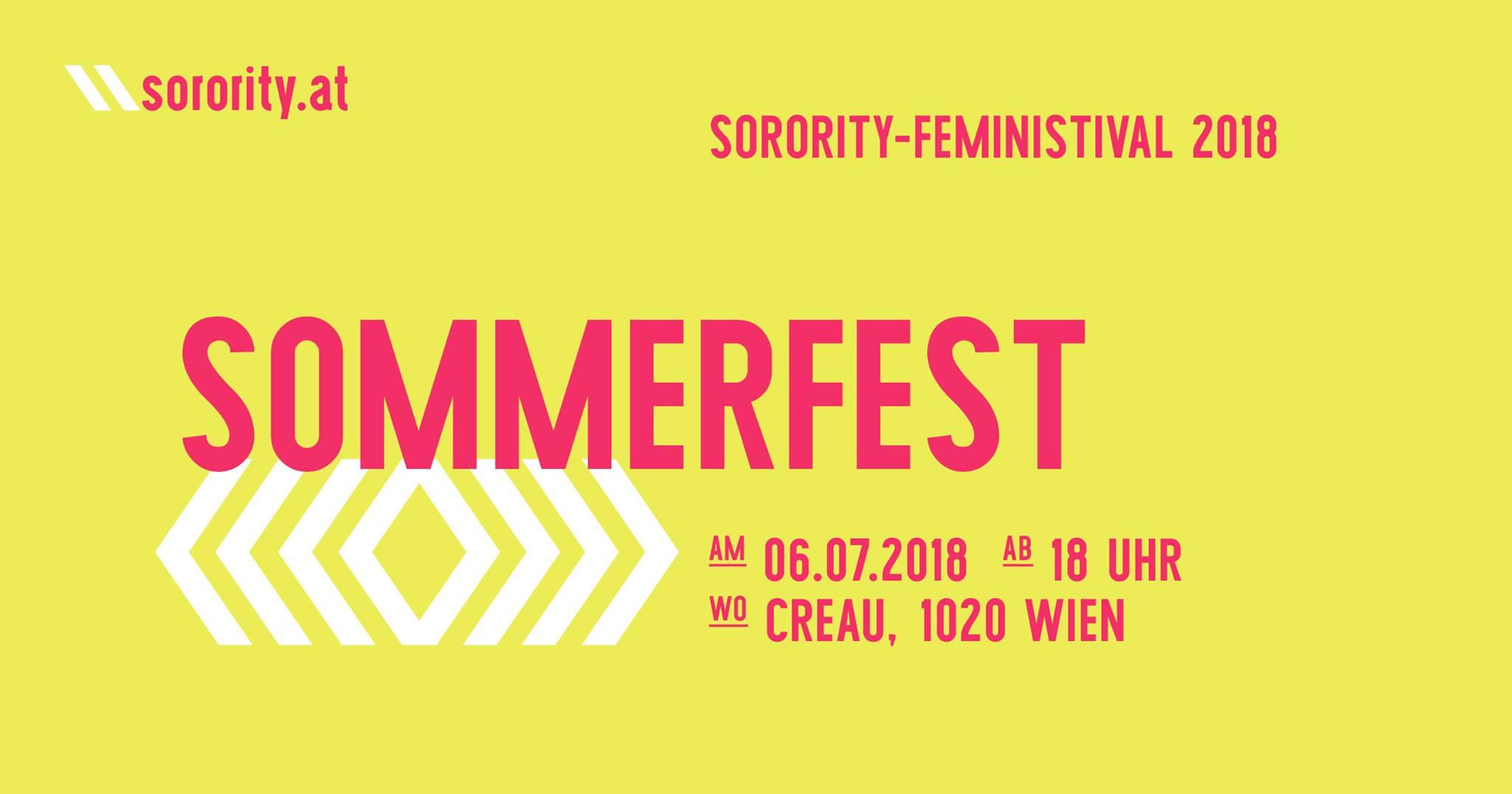 Sorority SOMMERFEST – Feministival 2018